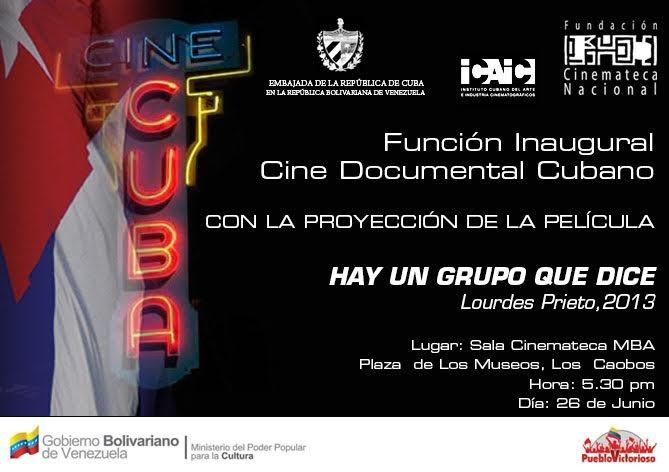 Función Inaugural Cine Cubano