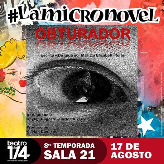 OBTURADOR, una de las propuestas de la SalaNovel en el #MicroTeatroVenezuela