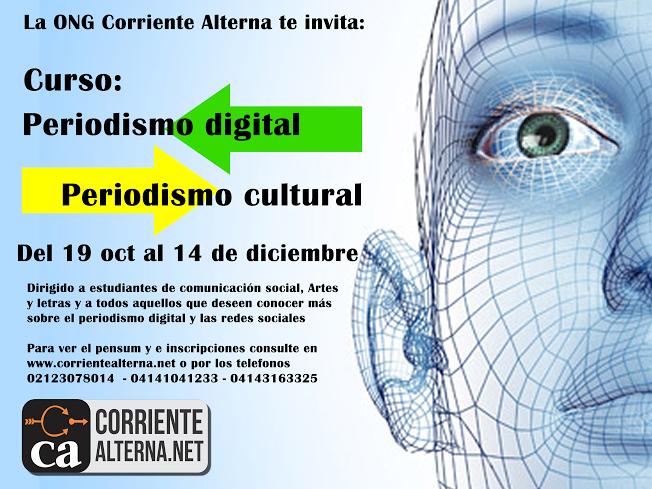 ONG Corriente Alterna trae el Taller de Periodismo Digital