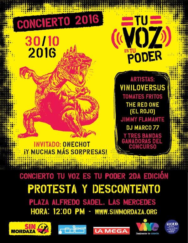 ¡Artistas se suman a la protesta en #TuVozEsTuPoder!