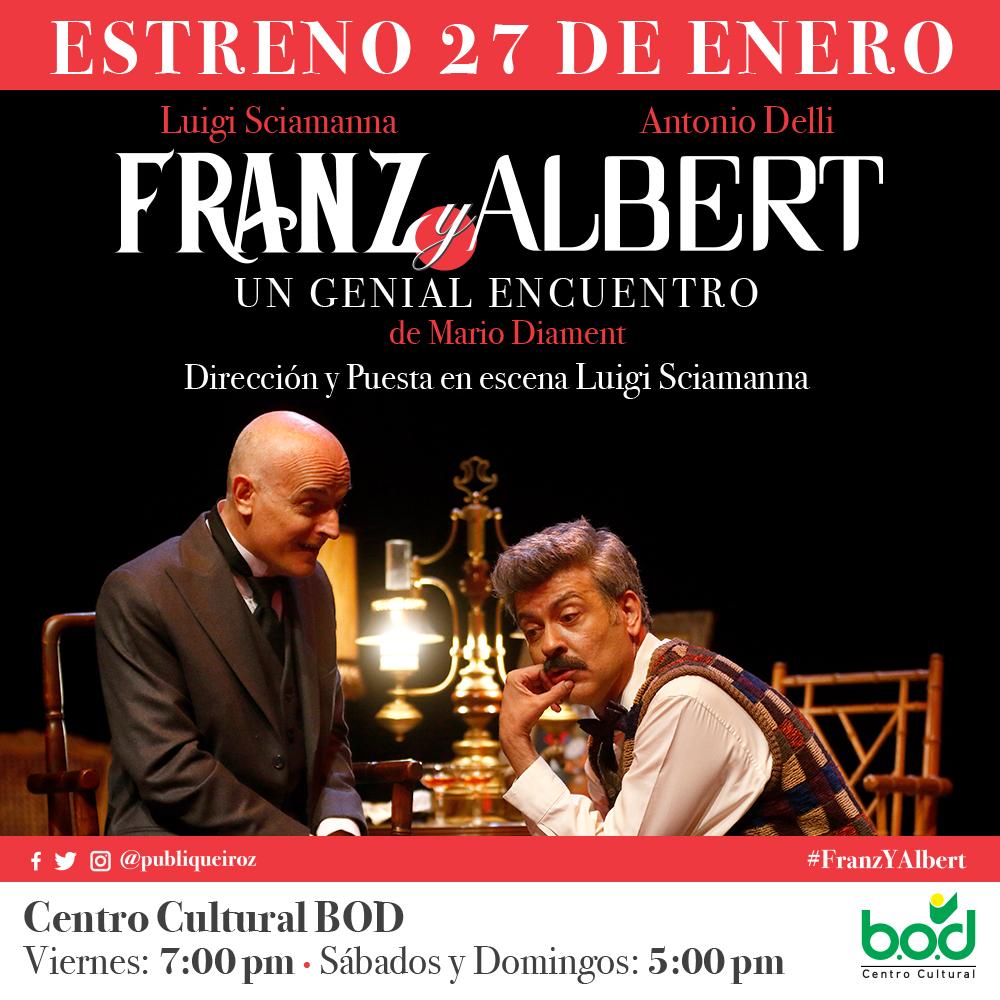 """TEATRO- """"Franz y Albert"""" llega al Centro Cultural BOD"""