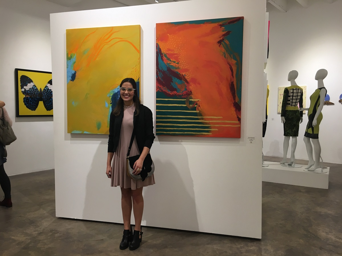 Orianna Montenegro muestra su arte abstracto en EEUU
