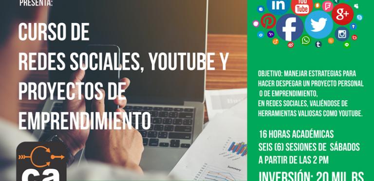 Continuando su ciclo de talleres  Corriente Alterna Presenta:  Redes Sociales, Youtube y proyectos de emprendimiento