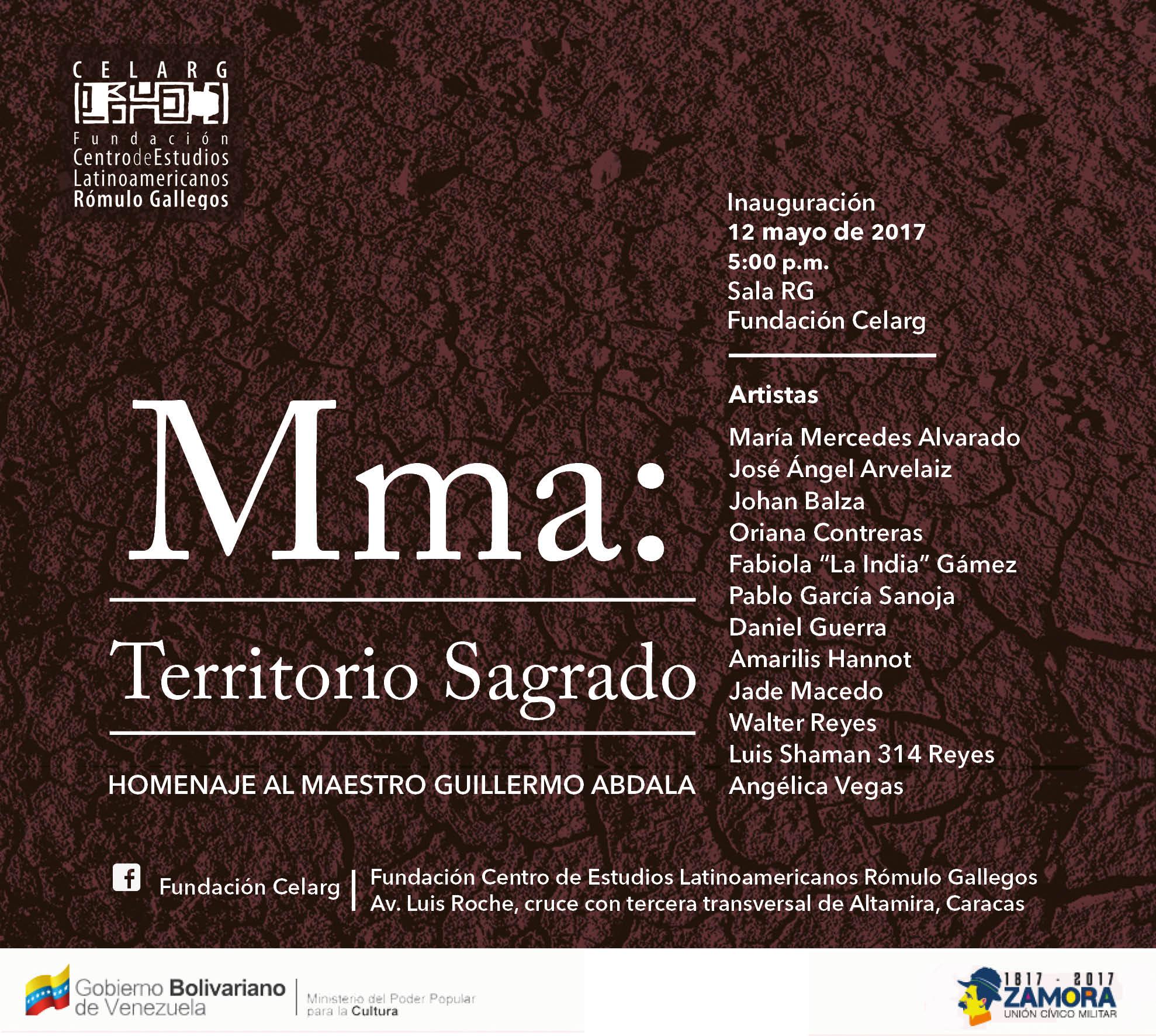"""Exposición """"Mma, territorio de lo sagrado"""" rendirá homenaje a Guillermo Abdala"""