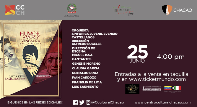 """""""Humor, amor y venganza"""" revisita tres clásicos de la ópera en el Centro Cultural Chacao"""