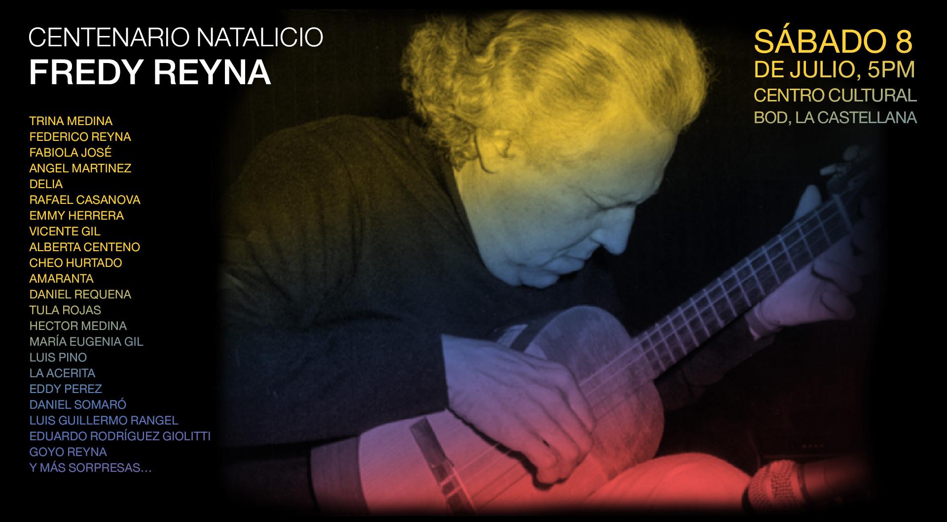 """""""Todos por Todos: homenaje a Fredy Reyna"""" un concierto en el marco del centenario de su natalicio"""
