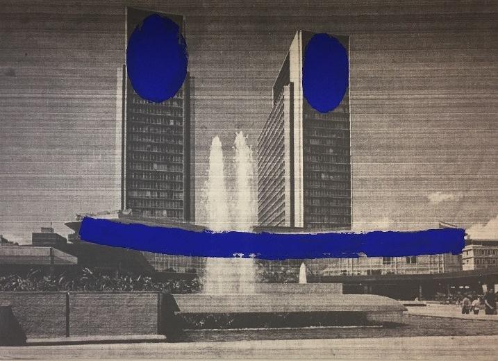 Paul Amundarain muestra símbolos rotos de Caracas en Cerquone Projects