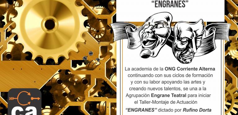 """Taller de actuación """"ENGRANES"""" inició de la mano de la ONG Corriente Alterna"""