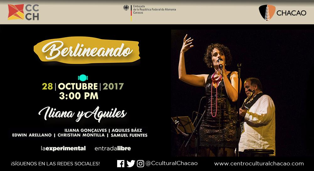 """Aquiles Báez e Iliana Goncalves llegan """"Berlineando"""" al Centro Cultural Chacao"""