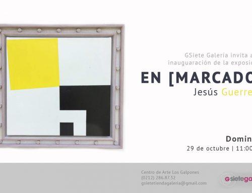 Reciente propuesta de Jesús Guerrero fusiona el marco y la pintura como un todo