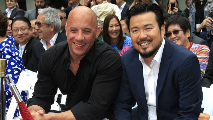 Mandatory Credit: Photo by Nina Prommer/Epa/REX/Shutterstock (7950130o) Us Actor Vin Diesel (l) and Us Director Justin Lin at the 88th Birthday of Tcl Chinese Theater Imax and Hand and Footprint Ceremony For Justin Lin Zhao Wei and Huang Xiaoming at Tcl Chinese Theater in Hollywood California Usa 03 June 2015 United States Hollywood Usa Cinema Hand and Footprint Ceremony - Jun 2015