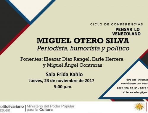 """Continua Ciclo de Conferencias """"Pensar lo venezolano"""" en el Celarg"""