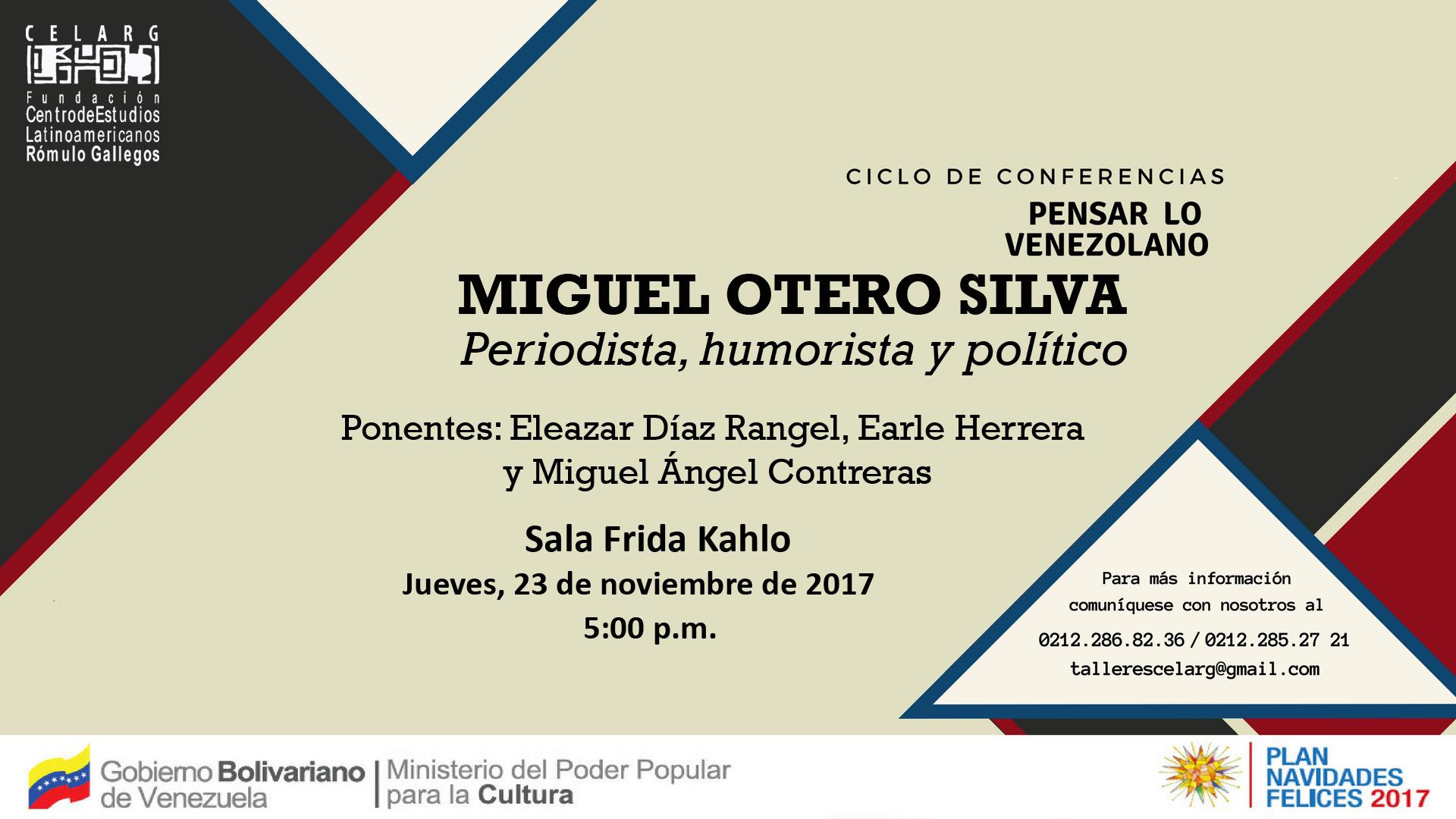 PENSAR LO VENEZOLANO Miguel Otero Silva