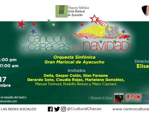 Vuelve el clásico navideño con Elisa Vegas y la Orquesta Gran Mariscal de Ayacucho