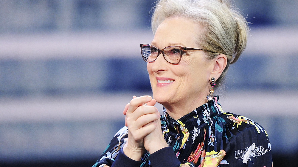 "Mandatory Credit: Photo by FLAVIO LO SCALZO/EPA-EFE/REX/Shutterstock (9320108j) Meryl Streep Meryl Streep and Tom Hanks attend 'Che tempo che fa' TV Show, Milan, Italy - 14 Jan 2018 US actress Meryl Streep attends the 'Che tempo che fa"" TV Show in Milan, Italy, 14 January 2018."