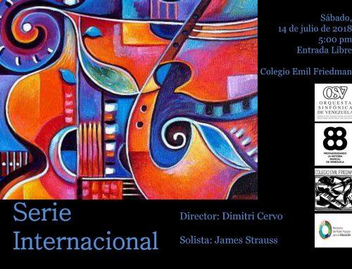 """La Orquesta Sinfónica de Venezuela interpretará música brasilera dentro del marco de su """"Serie Internacional"""""""