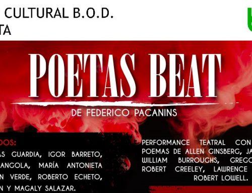 """""""Poetas Beat"""" combina teatro, poesía y música en una singular propuesta escénica"""